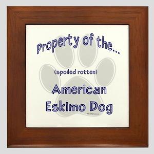 American Eskimo Property Framed Tile