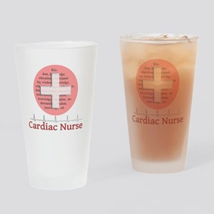 Cardiac Nurse Salmon circle Drinking Glass