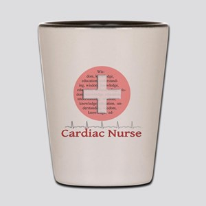 Cardiac Nurse Salmon circle Shot Glass