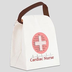 Cardiac Nurse Salmon circle Canvas Lunch Bag