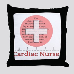 Cardiac Nurse Salmon circle Throw Pillow