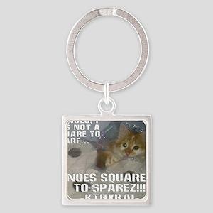 noes squarez Square Keychain