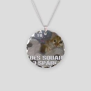 noes squarez Necklace Circle Charm