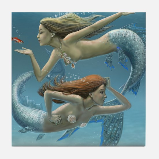 siren sisters covered version Tile Coaster