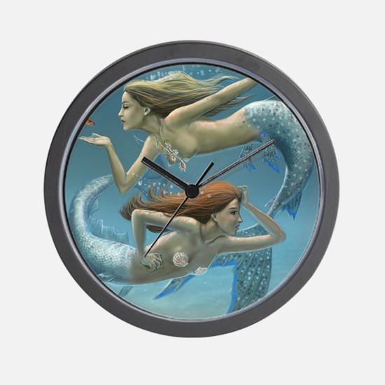 siren sisters for prints Wall Clock