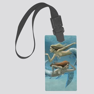 siren sisters for journal etc Large Luggage Tag