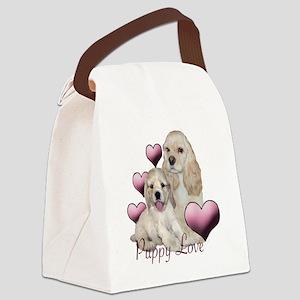 puppy love cocker Canvas Lunch Bag