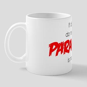 text for White para Mug