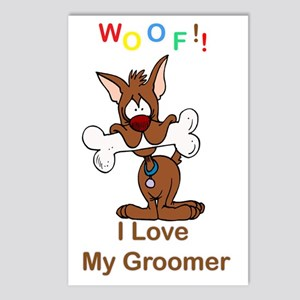 woof I love my groomer co Postcards (Package of 8)