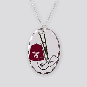 Shriners Necklace Oval Charm