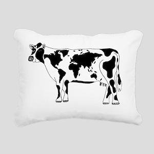 Cow Map Rectangular Canvas Pillow