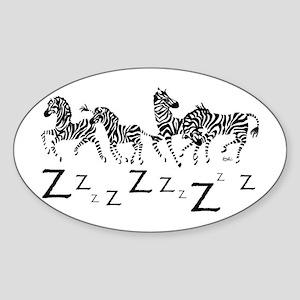 z-for white Sticker (Oval)