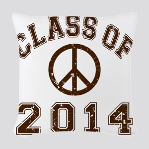 Class Of 2014 Peace - Brown 2  Woven Throw Pillow