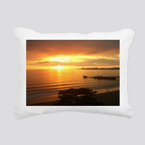 6-CementBoatOrangeSunset Rectangular Canvas Pillow