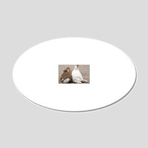 VA006-IzzyOzzyButts 20x12 Oval Wall Decal