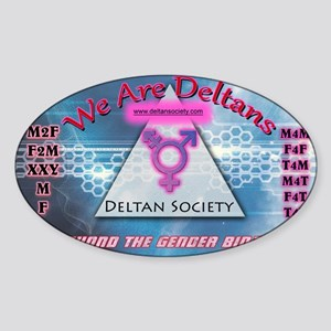 Deltan-Shirt Sticker (Oval)