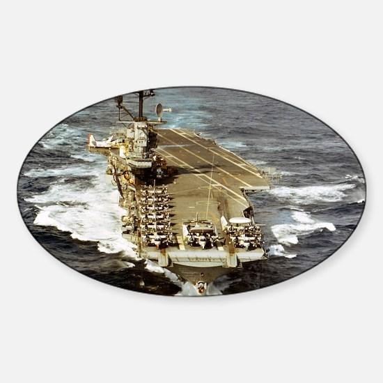 intrepid cvs framed panel print Sticker (Oval)