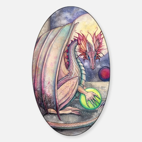 Dragons Perch Sticker (Oval)