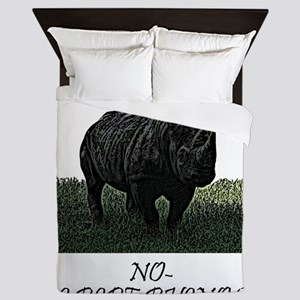 ride a rhino Queen Duvet