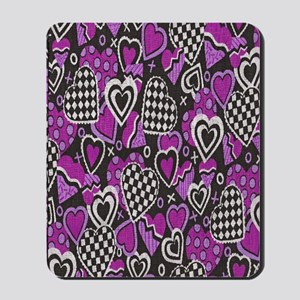BLACK-WHITE-RED-HEARTS copy Mousepad