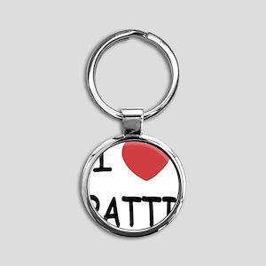 PATTI Round Keychain