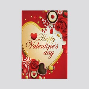 Happy-Valentine-Day-Card Rectangle Magnet