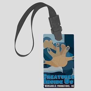 CreaturesInsideUs-7x10 Large Luggage Tag