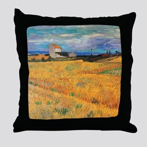 Wheat Field Vincent van Gogh Throw Pillow