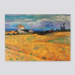 Wheat Field Vincent van Gogh 5'x7'Area Rug