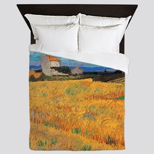Wheat Field Vincent van Gogh Queen Duvet