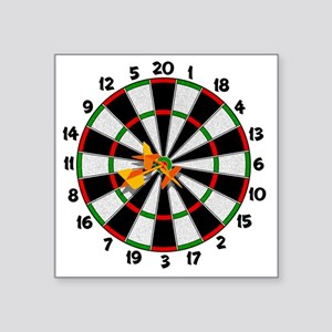 "dartboard Square Sticker 3"" x 3"""