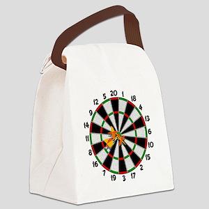 dartboard Canvas Lunch Bag