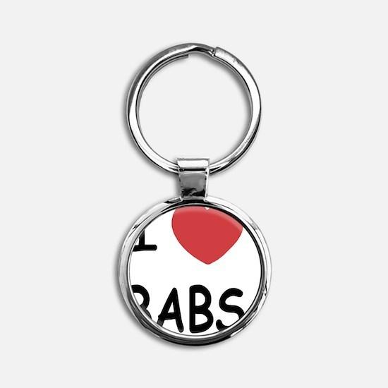 BABS Round Keychain