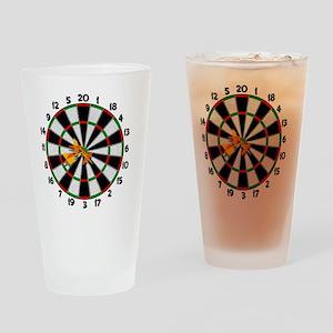 dartboard_sm Drinking Glass