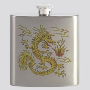 Golden Dragon Flask