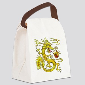 Golden Dragon Canvas Lunch Bag