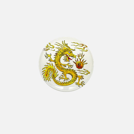 Golden Dragon Mini Button