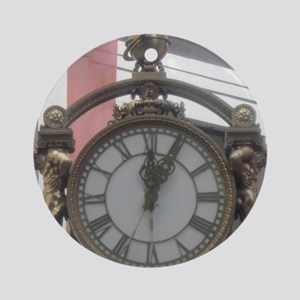 Bronze Clock Round Ornament