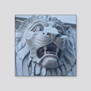 "Leering Lion Square Sticker 3"" x 3"""
