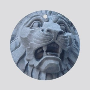 Leering Lion Round Ornament