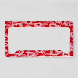 Lace Hearts copy copy License Plate Holder