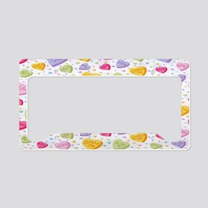 Valentine Candy Hearts copy c License Plate Holder