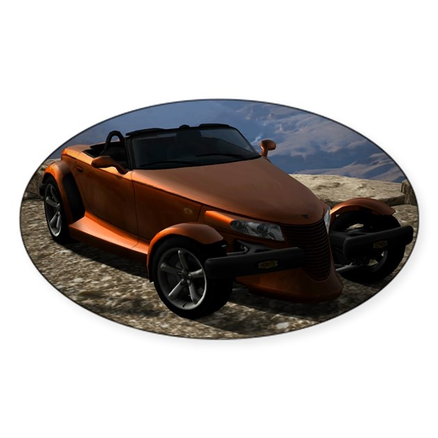 Plymouth Prowler 2002 Sticker (Oval) By Admin_CP50327498