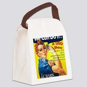 We Can Do It CAFEPRESS v2 Canvas Lunch Bag