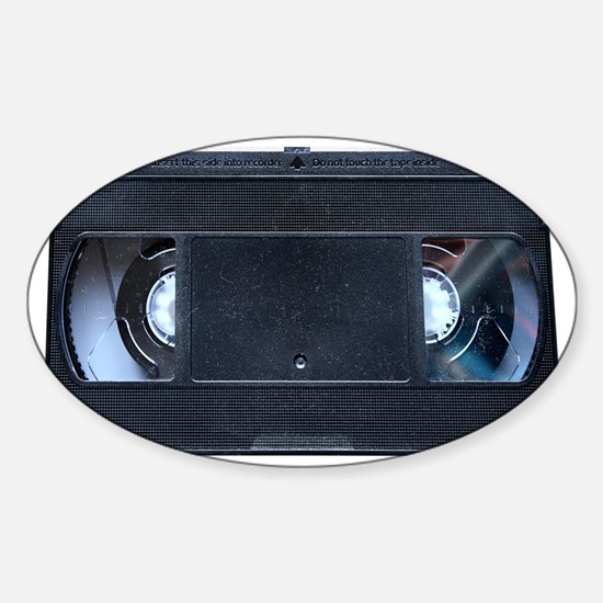 VHS Tape Tioletry Bag Sticker (Oval)