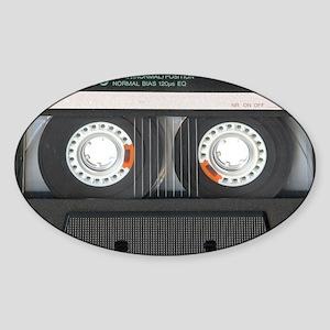 Cassette Tioletry Bag Sticker (Oval)
