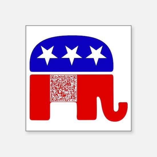 "gop_gop_pledge Square Sticker 3"" x 3"""