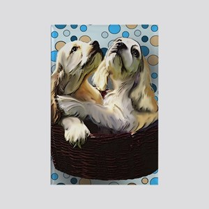 cocker_puppies for blanket Rectangle Magnet