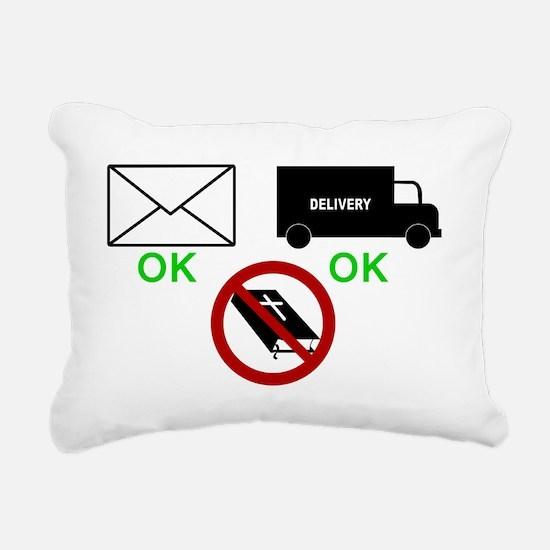 yard sign with bible Rectangular Canvas Pillow