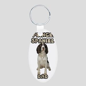 Springer Spaniel Dad Aluminum Oval Keychain